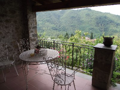 House with garden and views near Bagni di Lucca